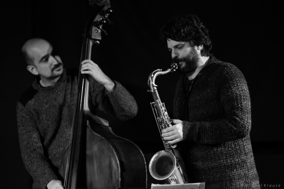 Juan Pablo Balcazar con Miguel Villar